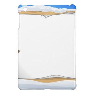 Cartoon Snowman Sign Scene iPad Mini Cases
