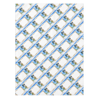 Cartoon Snowman Sign Scene Tablecloth