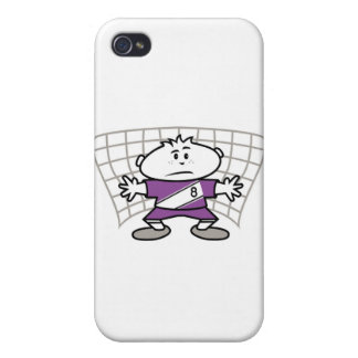 Cartoon Soccer Goalie and Gifts iPhone 4/4S Covers