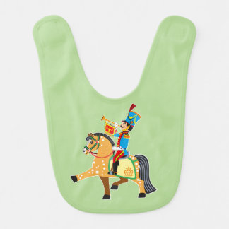 cartoon soldier bib