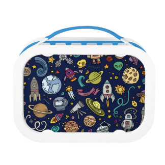 Cartoon Space Explorer Birthday Kids Theme Lunch Box