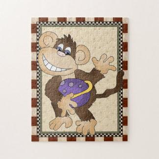 Cartoon Space Monkey kids puzzle