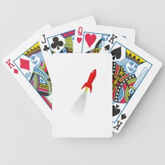 Cartoon Space Rocket Card Decks