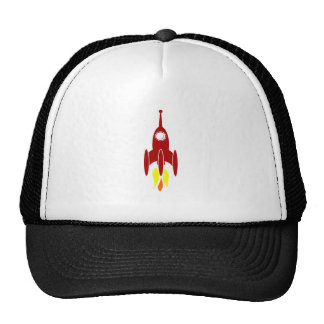 Cartoon Space Rocket Mesh Hats