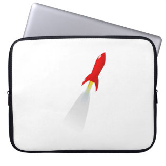 Cartoon Space Rocket Laptop Sleeve