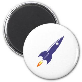 Cartoon Space Rocket Magnet