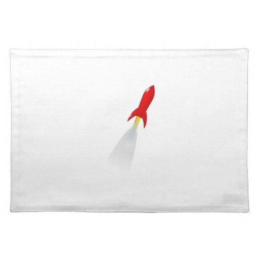 Cartoon Space Rocket Place Mat