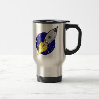 Cartoon Space Rocket Stainless Steel Travel Mug