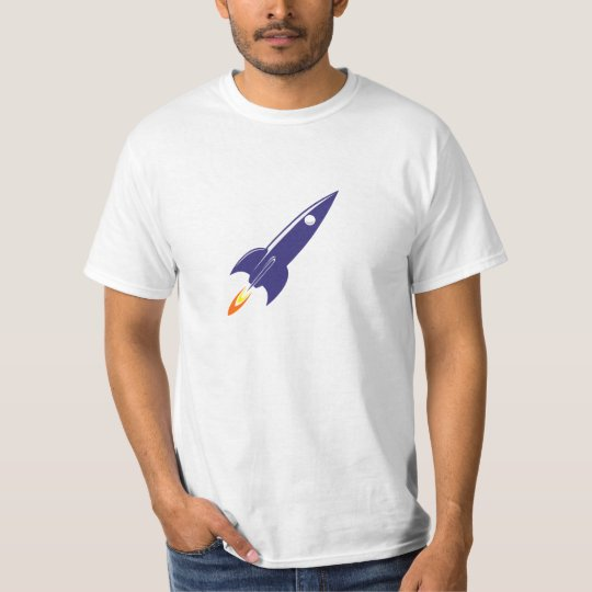 Cartoon Space Rocket T-Shirt