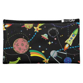 Cartoon Space Scene Makeup Bags