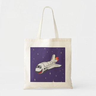 Cartoon Space Shuttle Tote Bag