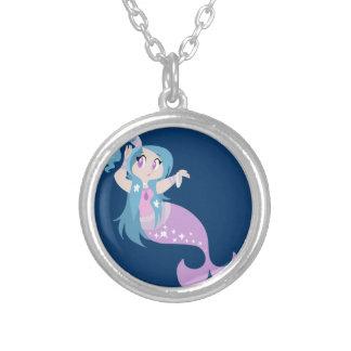 Cartoon Sparkle Mermaid Pendant