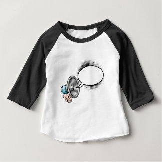 Cartoon Speech Bubble Megaphone Baby T-Shirt