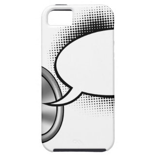Cartoon Speech Bubble Megaphone iPhone 5 Case