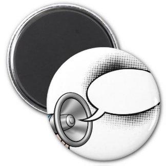 Cartoon Speech Bubble Megaphone Magnet