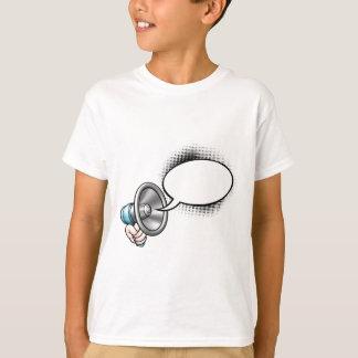 Cartoon Speech Bubble Megaphone T-Shirt