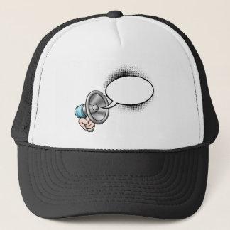 Cartoon Speech Bubble Megaphone Trucker Hat