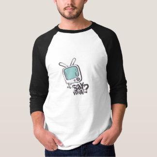 Cartoon speech bubble shirt BLUE