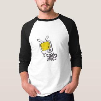 Cartoon speech bubble shirt YELLOW