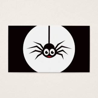 Cartoon spider business card