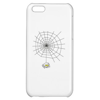 Cartoon Spider Hanging from Web Case For iPhone 5C