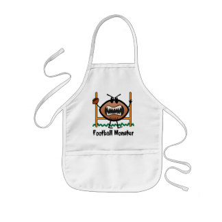 Cartoon Sports Clip Art Angry Mad Football Monster Aprons