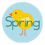 Cartoon Spring Bird Acrylic Cut Out