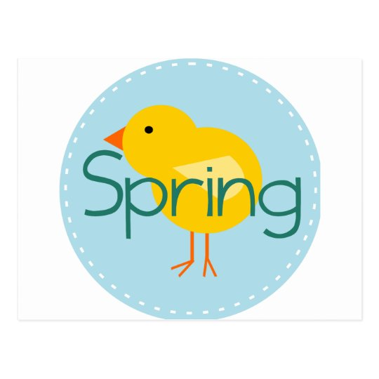 Cartoon Spring Bird Postcard