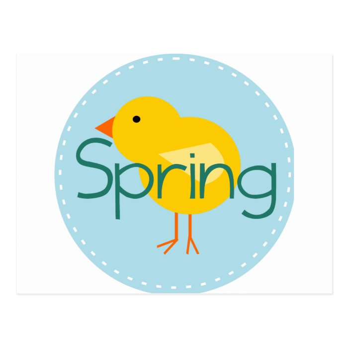 Cartoon Spring Bird Postcard