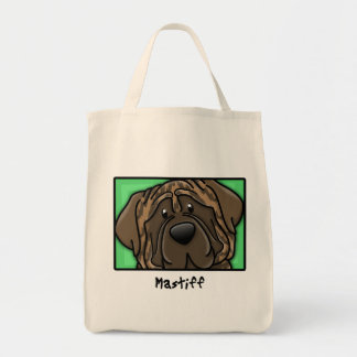 Cartoon Square Brindle Mastiff