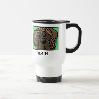 Cartoon Square Brindle Mastiff Travel Mug