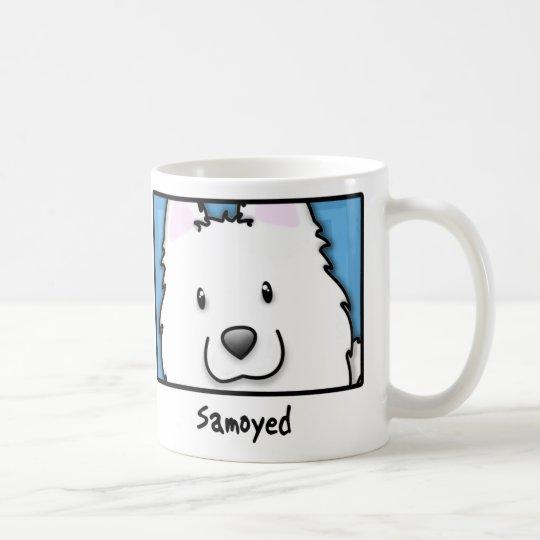 Cartoon Square Samoyed Coffee Mug