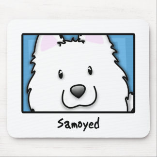 Cartoon Square Samoyed Mouse Pad