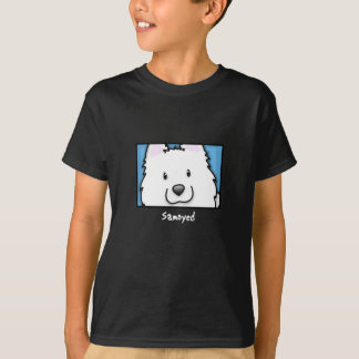 Cartoon Square Samoyed T-Shirt