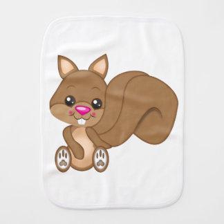 Cartoon Squirrel Burp Cloth