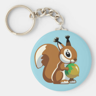 cartoon squirrel key ring