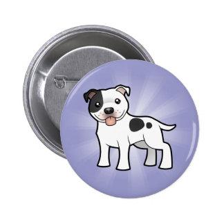 Cartoon Staffordshire Bull Terrier 6 Cm Round Badge