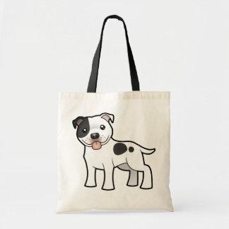 Cartoon Staffordshire Bull Terrier Budget Tote Bag