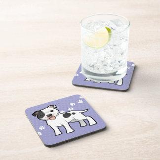Cartoon Staffordshire Bull Terrier Coaster