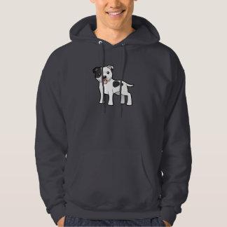 Cartoon Staffordshire Bull Terrier Hoodie