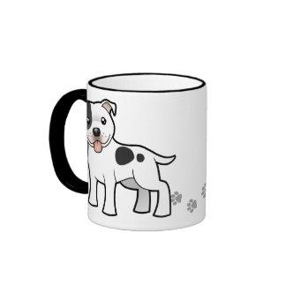 Cartoon Staffordshire Bull Terrier Ringer Mug