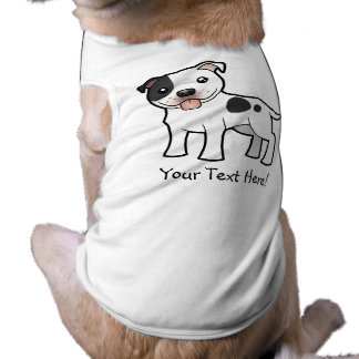 Cartoon Staffordshire Bull Terrier Shirt