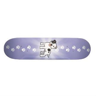 Cartoon Staffordshire Bull Terrier Skate Boards