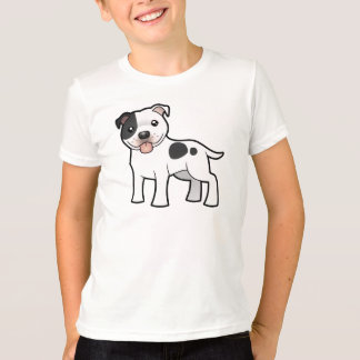 Cartoon Staffordshire Bull Terrier T-Shirt