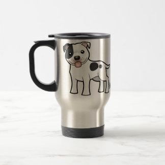 Cartoon Staffordshire Bull Terrier Travel Mug