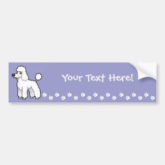 Cartoon Standard/Miniature/Toy Poodle Bumper Sticker