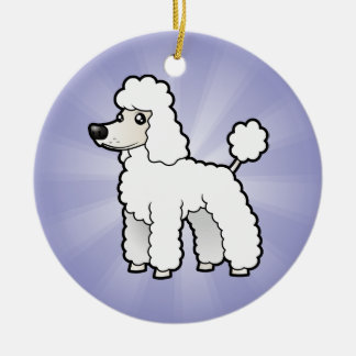 Cartoon Standard/Miniature/Toy Poodle Christmas Ornament