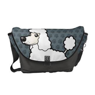 Cartoon Standard/Miniature/Toy Poodle Commuter Bag