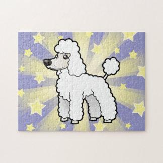 Cartoon Standard/Miniature/Toy Poodle (puppy cut) Puzzle