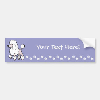 Cartoon Standard/Miniature/Toy Poodle (show cut) Bumper Sticker